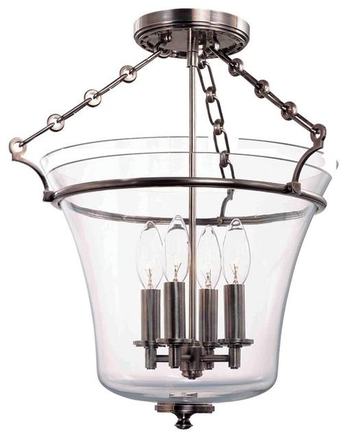 Hudson Valley Lighting Eaton Transitional Semi Flush Mount Ceiling Light X-NH-23 transitional-ceiling-lighting