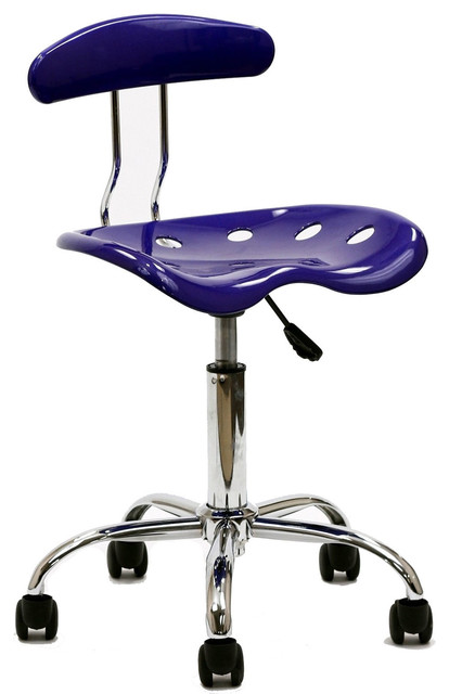 Rush Acrylic Task Chair in Blue contemporary-office-chairs