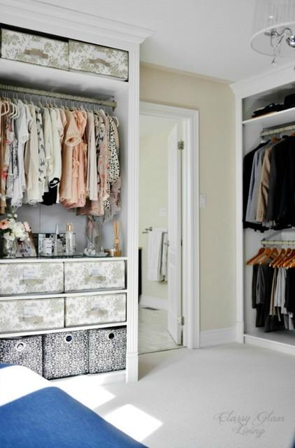 DIY IKEA Hack PAX Wardrobe Dressing Room - Transitional - Closet ...