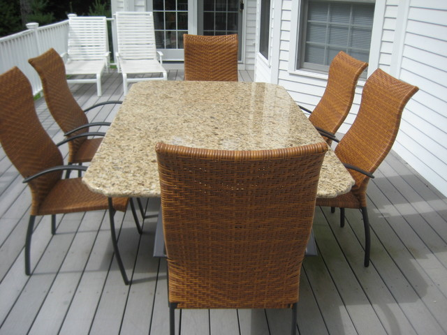 GRANITE PATIO TABLE Other Metro By Marble Doctors LLC