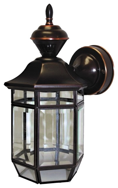 "Motion Sensor 13 1 2"" High Antique Copper Outdoor Light"
