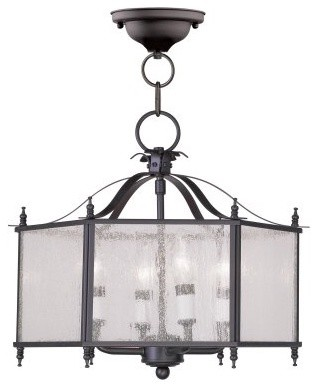 Livex Legacy 4399-07 4-Light Convertible Chain Hang / Ceiling Mount in Bronze modern-ceiling-lighting