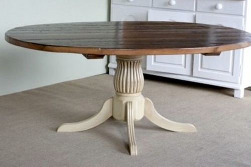 Round Kitchen Tables With Fluted Pedestal Farmhouse