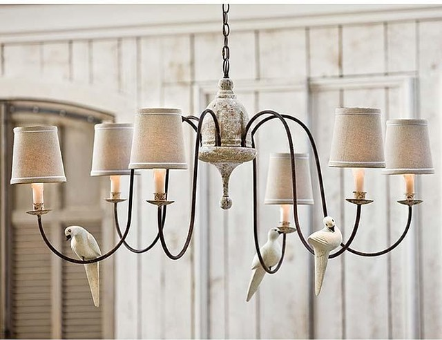 Regina Andrew Antique Rusted Arm 6 Light Chandelier-Large traditional-chandeliers