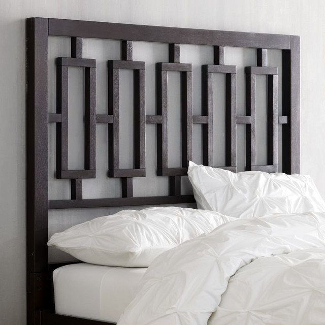 Window headboard chocolate modern headboards by for Modern headboard diy