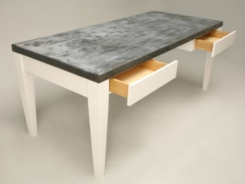 Custom Zinc Top writing desk for office or computer