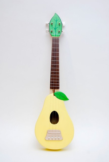 Solid wood pear ukulele by celentano woodworks for Decoration ukulele