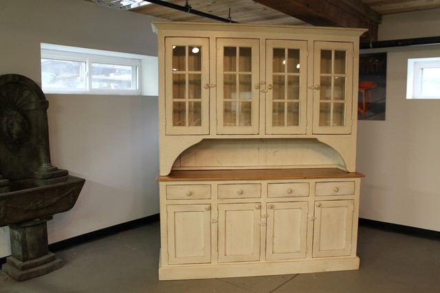 Buttermilk farmhouse hutch from reclaimed wood - Farmhouse - China Cabinets And Hutches - boston ...