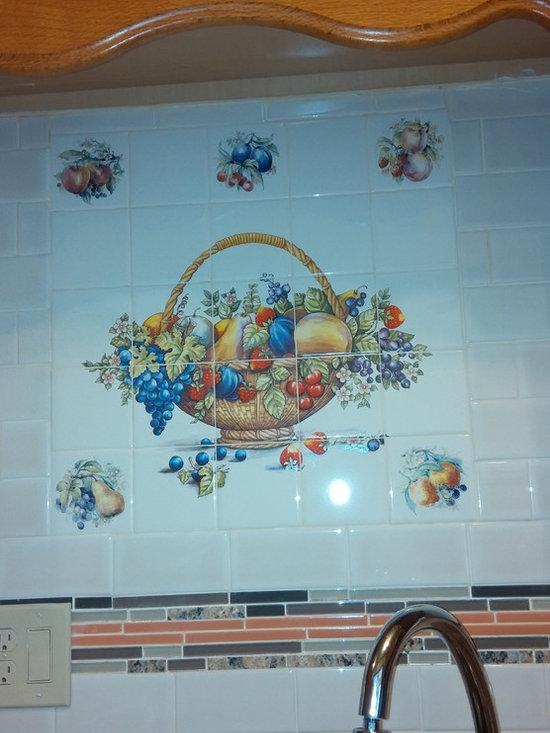 Fruit Mural Ceramic Tile Decor Kiln Fired Made in Ohio U.S.A. -