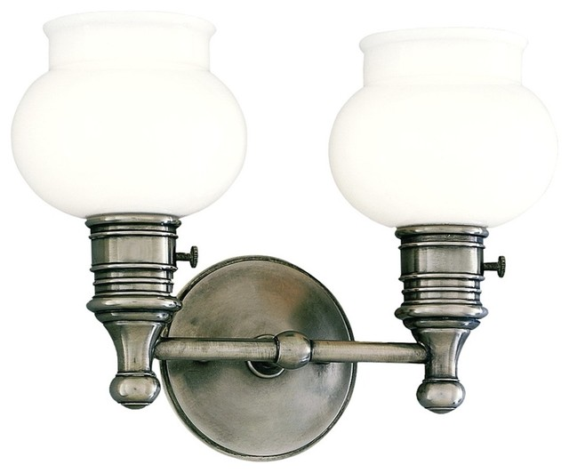 "Hudson Valley Providence Nickel 11 3/4"" Wide Wall Sconce traditional-wall-sconces"