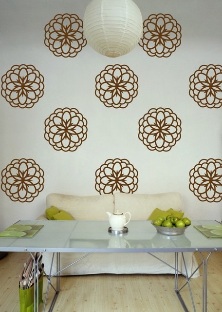 Flower Burst Set of 12 Graphic Decals contemporary-wall-decals