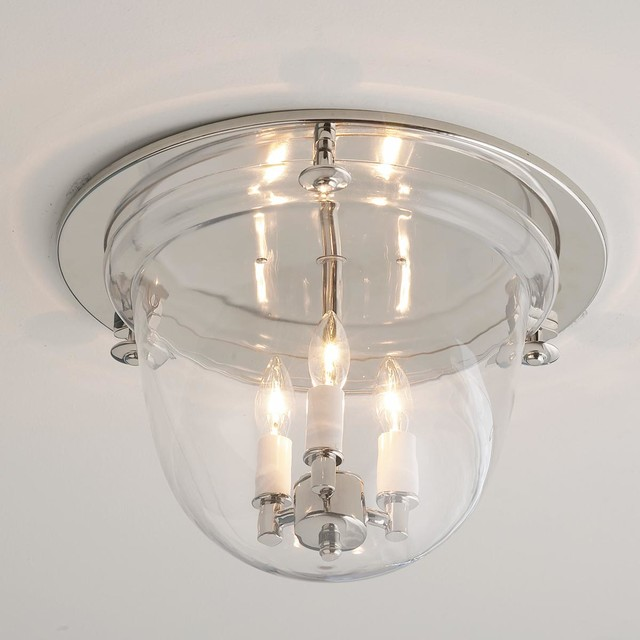 Flush Ceiling Bell Lantern - 4 finishes  ceiling lighting