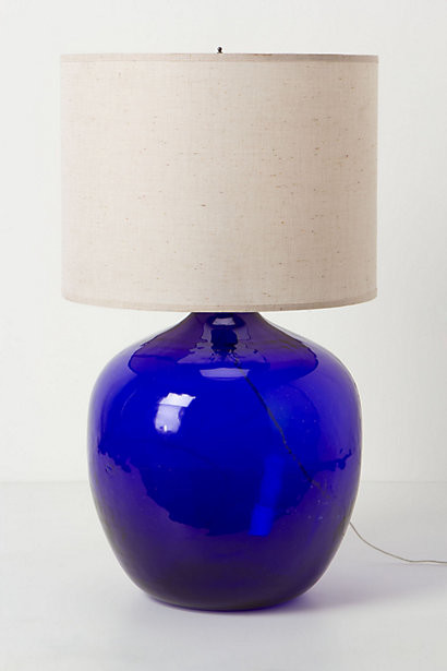 Found Decanter Lamp Blue Contemporary Table Lamps