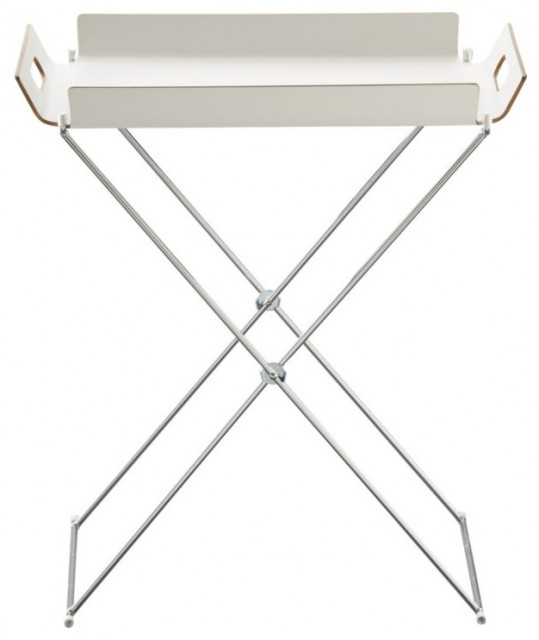 Formosa White Tray Table contemporary-indoor-pub-and-bistro-tables