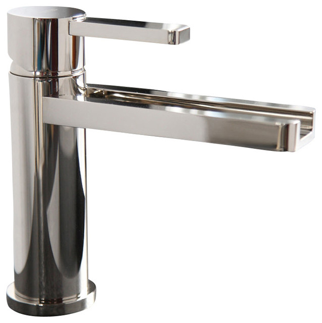 Waterfall Ultra Modern Bathroom Faucet Polished Chrome