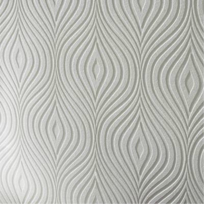Curvy paintable wallpaper contemporary wallpaper by for Contemporary wallpaper