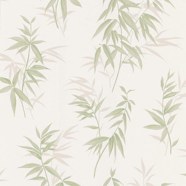 Bamboo Shoot Light Green Leaves Wallpaper Tropical