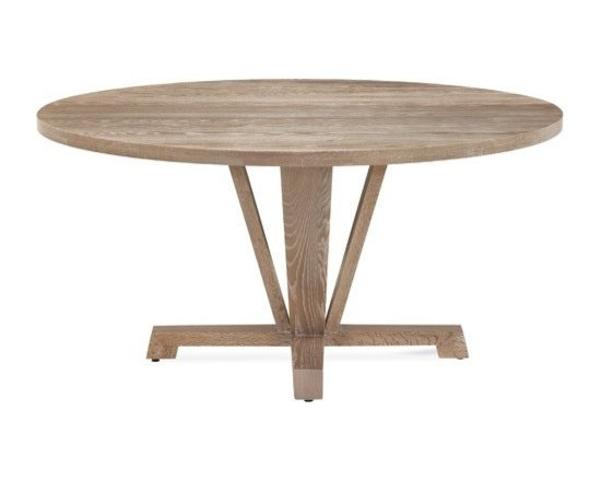 Saloom Furniture - Saloom Furniture | Boylston Round Extension Oak Dining Table - Design by Peter Francis.