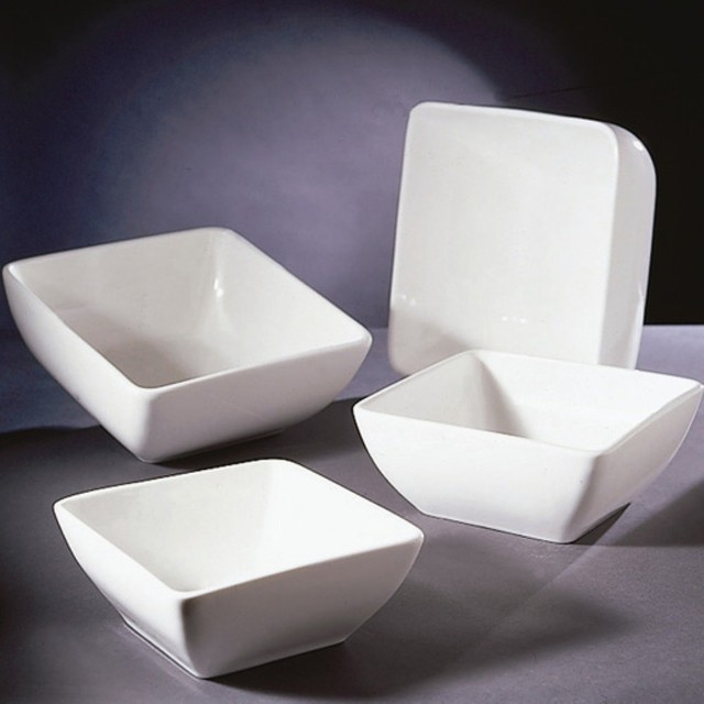 From desserts to soups the 10 Strawberry Street Square Bowls - Set of 6 will sho modern-dining-bowls