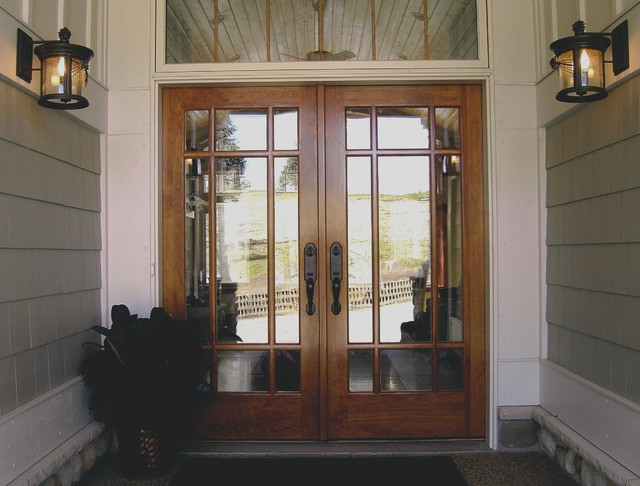Cherry double door entry front doors minneapolis by for Double front doors for homes