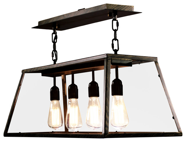 edison island pendant light rustic chandeliers by. Black Bedroom Furniture Sets. Home Design Ideas