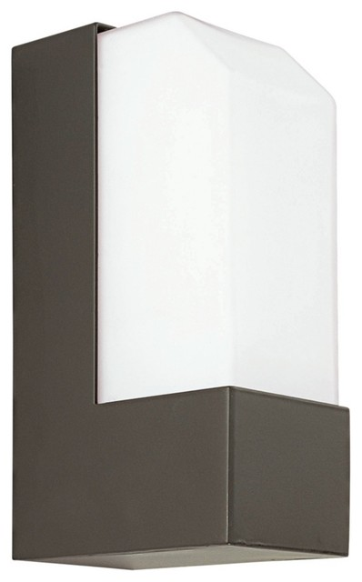 "Observe Bronze 7"" High Fluorescent Outdoor Wall Light contemporary outdoor lighting"