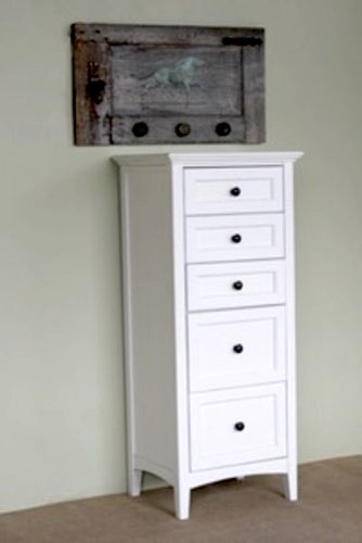 54 Tall White Dresser Chest Traditional Boston By