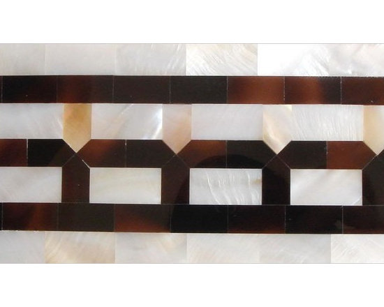 mother of pearl mosaic tile borders - visit www.dintin.com and contact us,we have complete range of natural mother of pearl mosaic tiles,also many designs have not been uploaded to houzz & our store,custom size and custom pattern welcome.worldwide shipping!