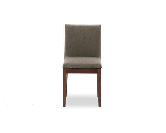 Bryght - Square Fabric Upholstered Cocoa Dining Chair - The Square dining chair's perfection lies in its flawless straight lines and unique seat design. You can be assured of a comfortable sit any time of the day with the Square dining chair's padded seat and back rest.