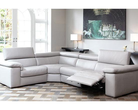 Italian Leather Fabio Cinema Sofa (NEW) -