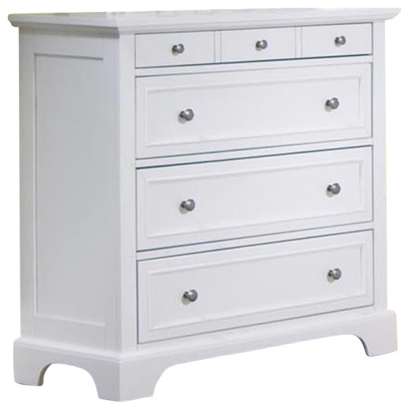home styles naples 4 drawer chest in white finish traditional dressers by cymax. Black Bedroom Furniture Sets. Home Design Ideas