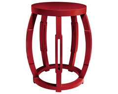 Bungalow 5 Taboret Side Table, Red contemporary-side-tables-and-accent-tables