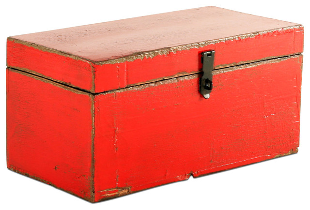 Vintage Red Wooden Box - Decorative Boxes - chicago - by Belle and June