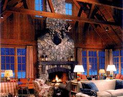 lakeside resort rustic-family-room