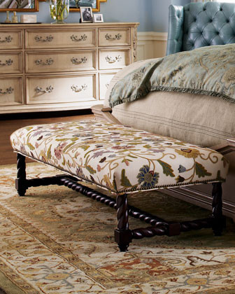 Crewel Bench traditional bedroom benches