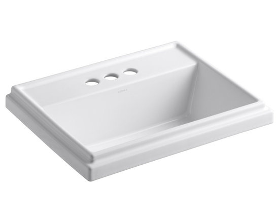 "KOHLER - Tresham Rectangle Self-Rimming Lavatory with 4"" Centerset Faucet Drilling - KOHLER Tresham rectangle self-rimming lavatory with 4"" centerset faucet drilling"