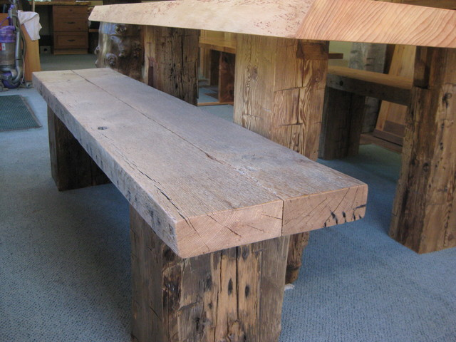 Live Edge Furniture rustic-indoor-benches