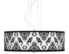"Traditional Black Filigree 20"" Wide 3-Light Pendant Chandelier traditional chandeliers"