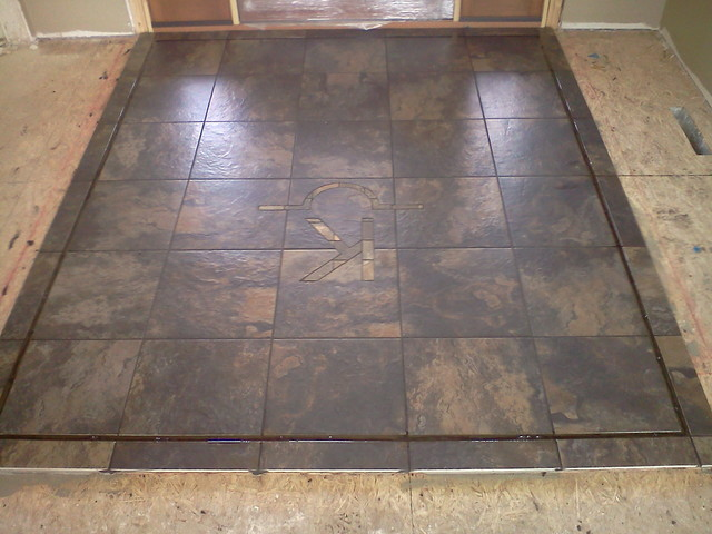 Traditional Foyer Tile : Entryway tile