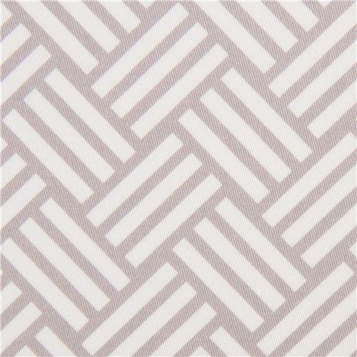 grey tatami stripes cotton sateen fabric Michael Miller fabric