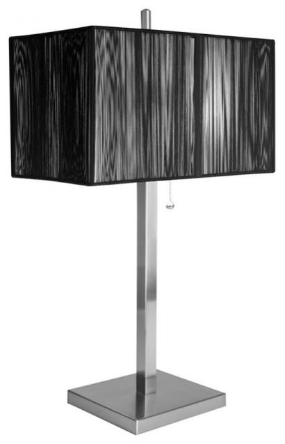 modern beside table lamps with black rectangular string. Black Bedroom Furniture Sets. Home Design Ideas