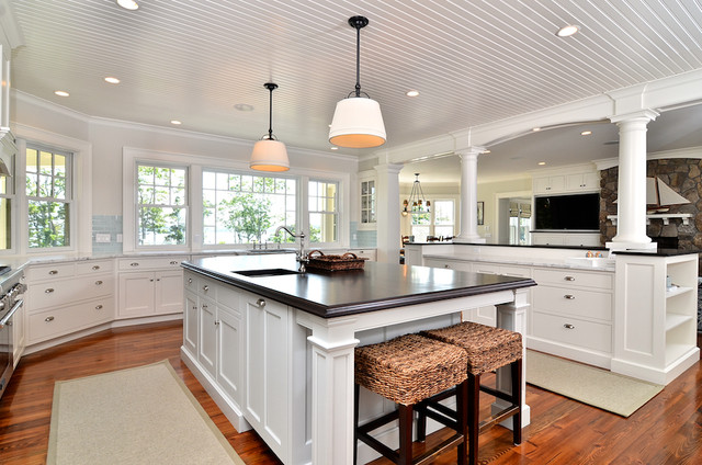 Cape cod shingle style traditional kitchen boston for Cape cod expansion design ideas