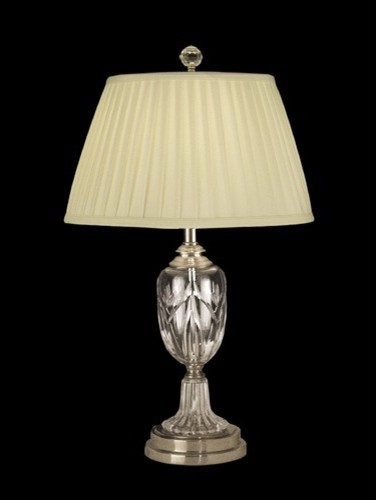 26 One Light Crystal Table Lamp in Antique Brass modern table lamps