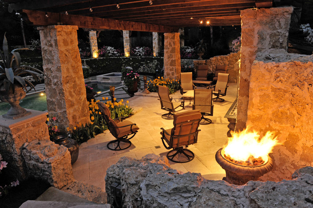 Outdoor Fire Elements eclectic-patio