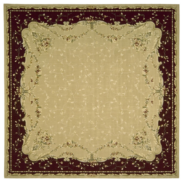 "Grand Chalet CL04 9'6"" Square Gold Rug traditional-rugs"