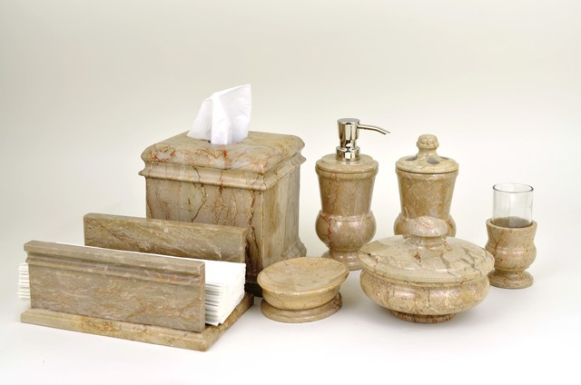 Marble bathroom accessories collection traditional for Marble toilet accessories