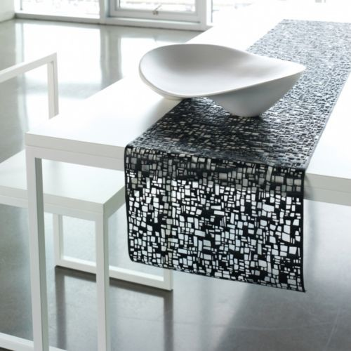 cubic table runner modern table linens