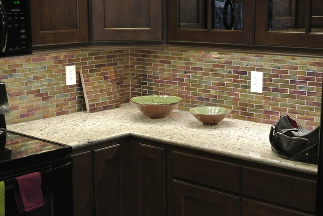 recycled glass backsplash by oceanside glass consentino granite