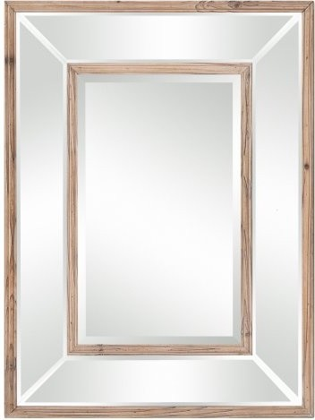 Odessa Wood Trimmed Decorative Mirror - 24W x 32H contemporary-mirrors