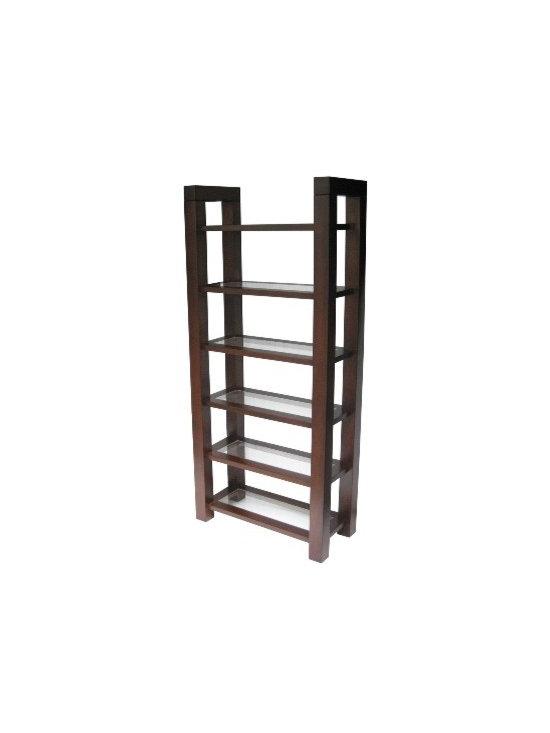 Creative Home Furnishings - Boxwood Furniture - Boxwood Bookcase with Glass shelves